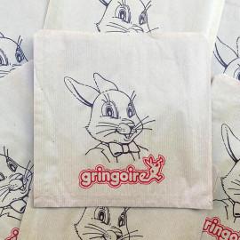 paper bag gringoire rabbit biscuits cake grocery old antique vintage illustration 1960
