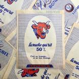 paper bag la vache qui rit bonbel babybel bel french cheese old antique vintage illustration 1960
