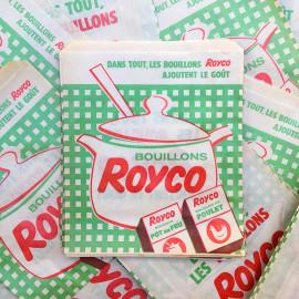 sachet ancien bouillons royco illustration emballage papier vintage 1960