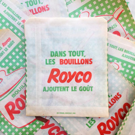 paper bag royco french cheese old antique vintage illustration 1960