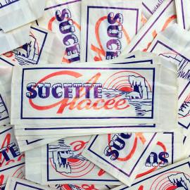 sachet ancien sucette glaçée glace friandise illustration emballage papier vintage 1960