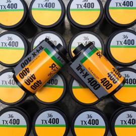 pellicule périmée argentique 35mm noir et blanc kodak tri-x tri x 400 36 poses