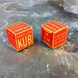 Little box bouillon kub 1930 kubor 20 cents vintage antique paper cardboard small