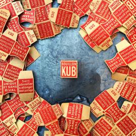 boite bouillon kub kubor 20 centimes 1930 papier carton ancien vintage épicerie 1930