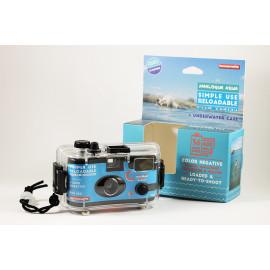 lomography boitier rechargable argentique 35mm étanche caisson sous marin eau couleur