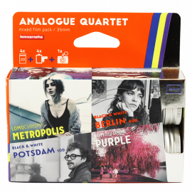 Pack 4 lomography lomo argentique film analogue quartet 100 400 iso color negative noir blanc couleur
