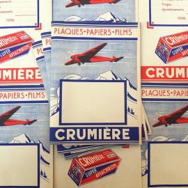 pochette enveloppe depot travaux photo film pellicule crumière crumiere aviachrome 1940 papier ancien vintage aviachrom