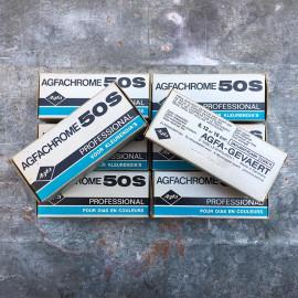 expired film vintage analog agfachrome 50S 1983 50 ISO film 120 color E6 slide