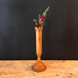 soliflore du jura fleur fleuriste bois tourné verre 1930 décor cabinet de curiosité