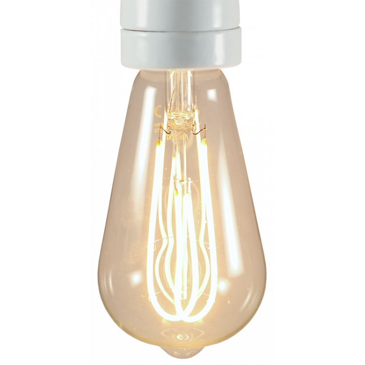 ampoule led e27 électricité quincaillerie lampe double loop 5w 2200 kelvin 280 lumen