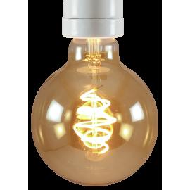 ampoule led e27 électricité quincaillerie lampe globe 5w 95mm gold doré or spirale 250lm 250 lumen