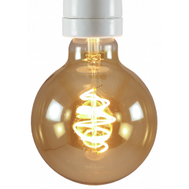 light lightbulb led electricity e27 globe spiral 5w gold 250lm 2000k 95mm