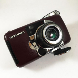 olympus lt zoom 105 leather compact point and shoot 35mm 4.5 analog 1997