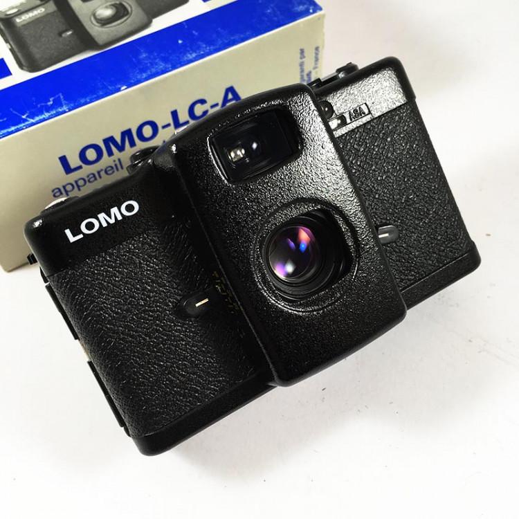 Lomo LC-A LCA compact 35mm Minitar 1 32mm 2.8 point and shoot small analog camera box