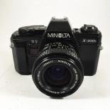 minolta x-300s 28mm 3.5 reflex appareil argentique 35mm vintage ancien