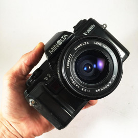 minolta x-300s 28mm 3.5 reflex analog 35mm analog film camera vintage