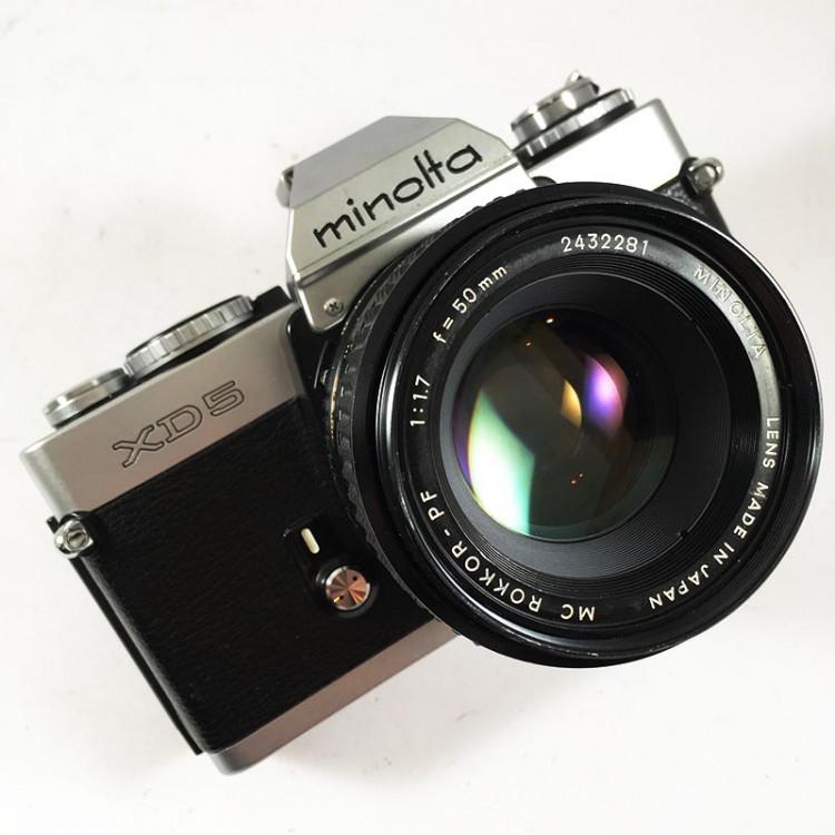minolta xd5 ancien appareil argentique vintage 24 36 35mm objectif 50mm rokkor 1,7