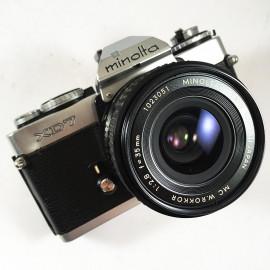 minolta xd7 vintage analog camera reflex 24 36 35mm rokkor 35mm 2.8 wide angle