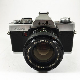 minolta xg9 35mm reflex 24 36 analog camera film 35mm 135 auto mode automatic vintage zoom 50mm 1.4 mc rokkor