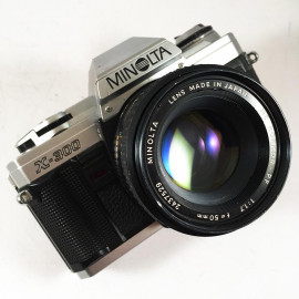 minolta x-500 50mm 1.7 reflex analog 35mm analog film camera vintage