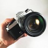nikon fe chrome zoom nikkor 35mm 105mm 3.5 4.5 appareil argentique ancien reflex