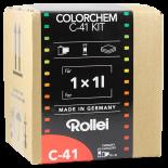 rollei colorchem c41 negative film color processing process kit 1 liter 1l home made