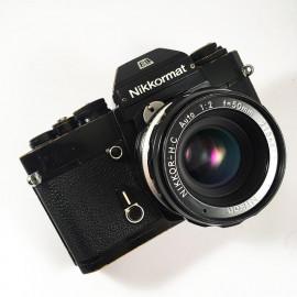 nikkormat el noir nikkor nikon 50mm reflex argentique 35mm