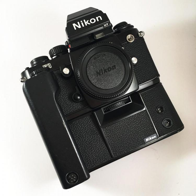 nikon f3 noir appareil argentique ancien reflex motor drive md4 prisme hp