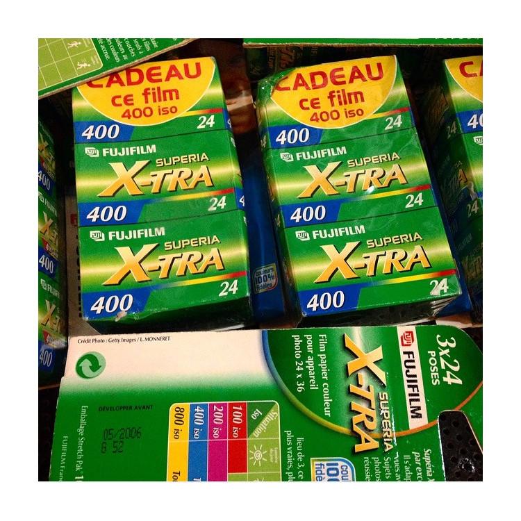 Pack 3 Fujifilm Xtra 400 35mm pellicules périmées anciennes fujifilm