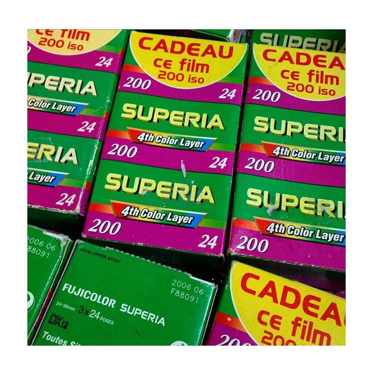 Pellicule périmée argentique Pack 3 Fujifilm Superia 200 35mm