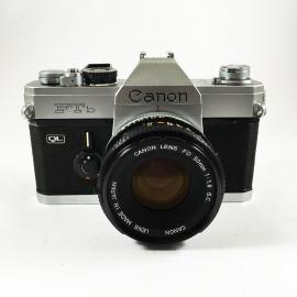 canon FTb QL reflex argentique 35mm 50 1.8 s.c fd chrome