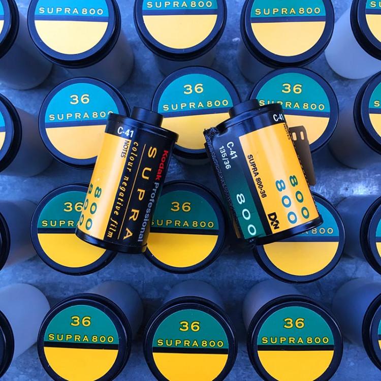 Kodak supra 800 couleur négatif périmé 36 poses 35mm 135 vintage argentique