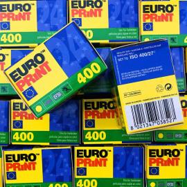 Euro print 400 24 poses couleur négatif argentique 135 35mm vintage 2013 ferrania