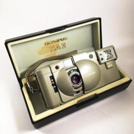 olympus xa2 silver flash a11 d.zuiko 35mm 3.5 135 compact analog camera film