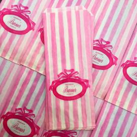 paper bag bonbons barnier sweets candy illustration vintage old 1970 1980