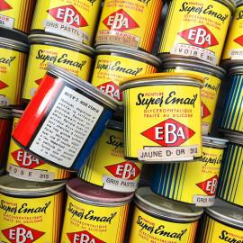 petit pot de peinture 1950 1960 super email EBA vintage