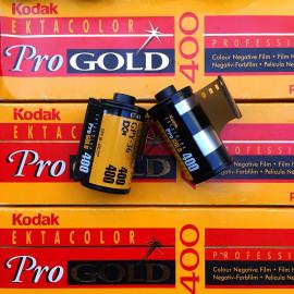 kodak ektacolor pro gold 400 vintage analog color negative film 135 35mm