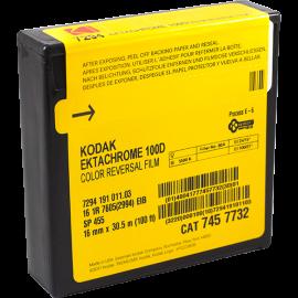 Kodak Ektachrome 100D Kodak 16mm film 100 D 7294 pellicule caméra couleur diapo E6 30.5m 100 feet 100ft cinema argentique
