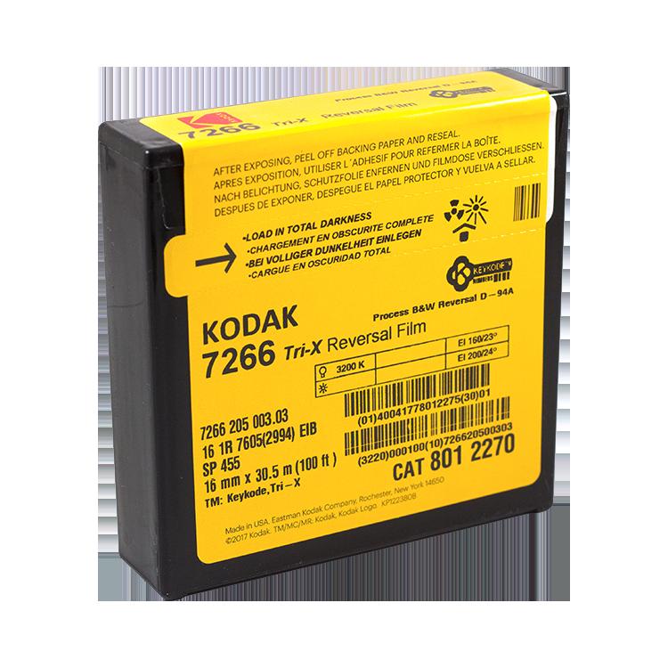 kodak 16mm film movie black and white reversal vintage 7266 cinema 30.5m 100 feet 100ft analog
