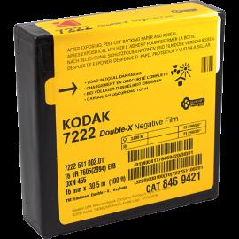 kodak 16mm film movie black and white double x  d-96 vintage 7222 30.5m 100 feet 100ft analog