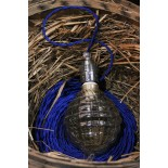 douille nickel cable torsadé bleu halogène stripes