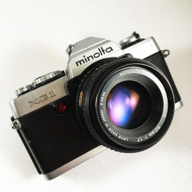 minolta xg1 md 50mm 1.7 appareil argentique ancien reflex auto mode xg-1