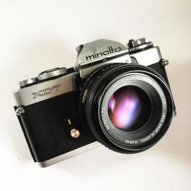 minolta xd7  ancien appareil argentique vintage 24 36 35mm objectif 50mm rokkor 1,7
