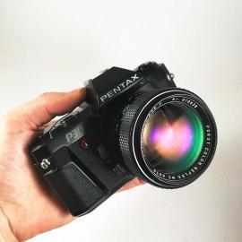 pentax p30 appareil argentique porst color reflex mc auto 55mm 1.2 automatique programme