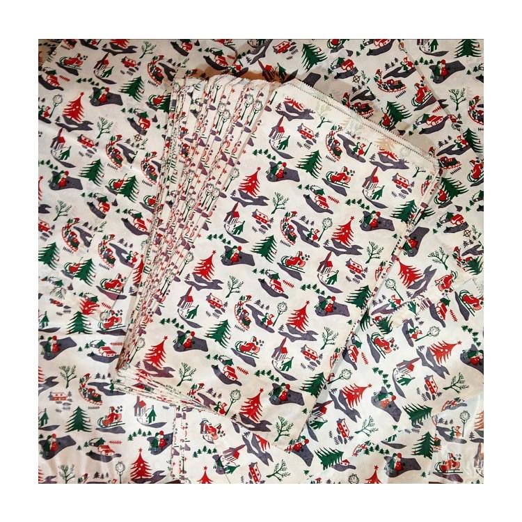 Sachet papier Kraft Noël Vintage Cadeau 1970 Farces et Attrapes