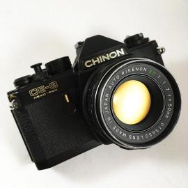 chinon ce-3 memotron rikenon 50mm 1.7 reflex argentique