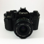 canon a1 ancien appareil reflex 35mm 135 noir 28mm 2.8
