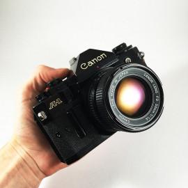 canon a1 ancien appareil reflex 35mm 135 noir 50mm 1.4