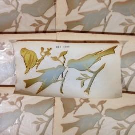 décalcomanie oiseaux vintage stock école sticker eau 1960