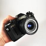 canon ae1 ae-1 reflex analog 28mm 2.8 35mm 135 black vintage camera